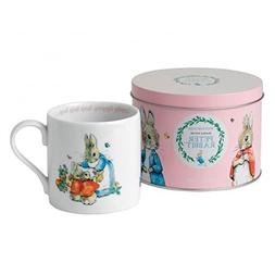 Wedgwood Peter Rabbit Mug in a Tin, Pink