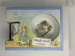 Wedgwood Peter Rabbit Nursery Set 3 pc Bowl Mug Plate Set Ce