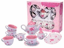 Pink Butterfly Porcelain Tea Set - Kitchen Play by Schylling