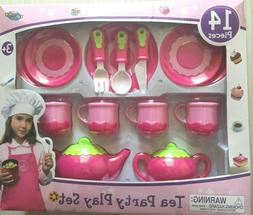 Girls Pink Tea Party Set for 4 My Sweet Home 14 pcs 3+ New