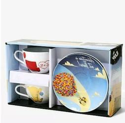 Disney Pixar Up Tea Set Coffee Mugs Cups Plates Saucers Bran