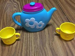 Play Tea Set - Child Size Play Teacups, Saucers, Cutlery, 29