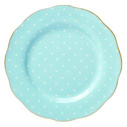 "Royal Albert Polka Blue Fine Bone China Salad Plate 8.3"" Pol"