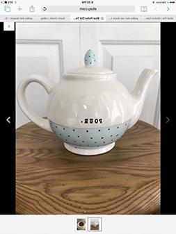Rae Dunn Polka Dot Tea Pot