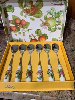 Portmeirion POMONA SET OF 6 TEA SPOONS!    New