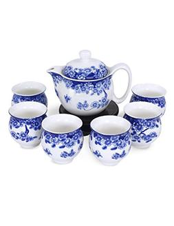 Dahlia Porcelain Butterfly Floral Tea Set  in Gift Box
