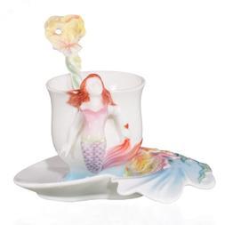 Choholete Porcelain Ceramic Tea Coffee Cup Set Elegant Merma