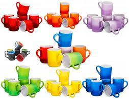 Bruntmor Ceramic Tea Coffee Cups Mugs Set of 6 Large sized 1
