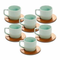 Porcelain Espresso Cup Set Ceramic Tea Cups and Saucers Set