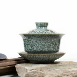 Porcelain Gaiwan Ge-Ware Crackle Glaze Teapot