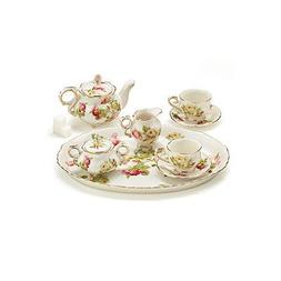 6 Piece Porcelain Royal Rose Mini Tea Set...NEW