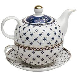 Grace Teaware Porcelain 4-Piece Tea For One