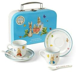 Peter Rabbit Porcelain Tea Party Set For Two in Box with Han