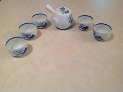 Arita Porcelain Tea Pot & 5 Tea Cup Set