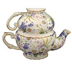 Gracie China by Coastline Imports Porcelain 3-Piece Tea Set