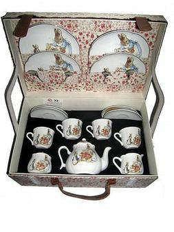 Reutter Children's Large Porcelain Tea Set for 4 in Hamper P