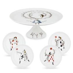 Vista Alegre Porcelain Tea With Alice Set Small Cake Stand &