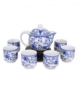 Dahlia Porcelain Vine Flower Tea Set  in Gift Box