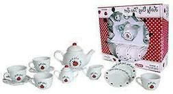 Porcelin Schylling Ladybug Tea Set for Children and 18 inch