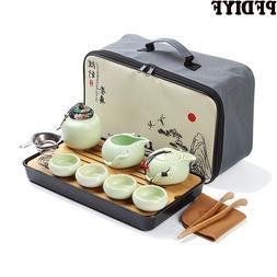 Portable Ceramic Teaware <font><b>Set</b></font> Chinese Kun