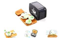 OMyTea Portable Travel Tea Set - 100% Handmade Chinese / Jap
