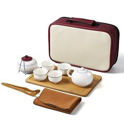 Dehua Porcelain Portable Travel Tea Set 100% Handmade Chines