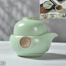 portable tea set porcelain tea pot with infuser gold fish st