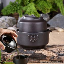 Portable tea set pot with infuser tea cup zisha kung fu teas
