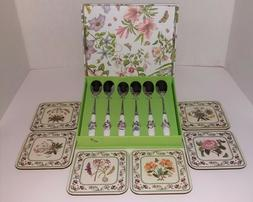 Portmeirion Botanic Garden Set of 6 Ice Tea Long Spoons and