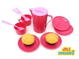 Little Treasures Pretend and Play Little Tea Set for Kitchen