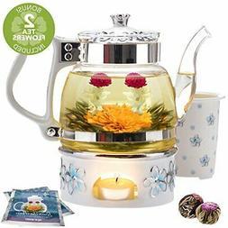 Teabloom Princess of Monaco Teapot & Blooming Tea Gift Set