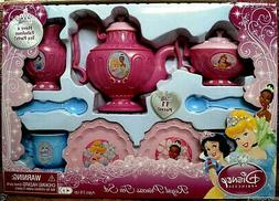 DISNEY PRINCESS ROYAL TEA SET,8 HIGHLY DETAILED PIECES,SERVI