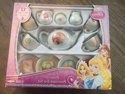 DISNEY PRINCESS TEA SET 12 PIECE PORCELAIN NEW IN BOX Servic