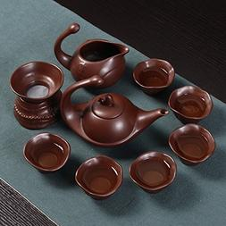 China Purple Clay Teapots Tea Sets , Crude Pottery , China C