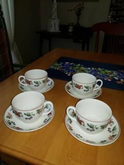 Wedgwood Queen's Ware England Provence Set of 4 Tea Cups and