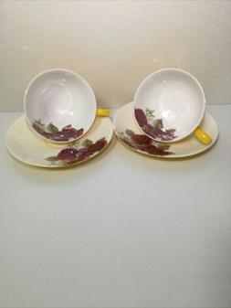 Rare Auratic Cup and Saucer Set of 2 China tea set With Stun