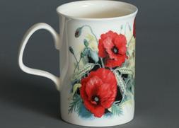 ROY KIRKHAM RED POPPY'S Fine Bone China LANCASTER Mug #1b