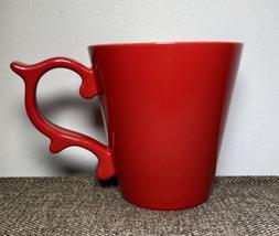 Red Starbucks Teavana 2015 Rococo Scroll Handle  Coffee Mug