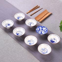 Retro blue-and-white porcelain tea cup Jingdezhen cup of tea