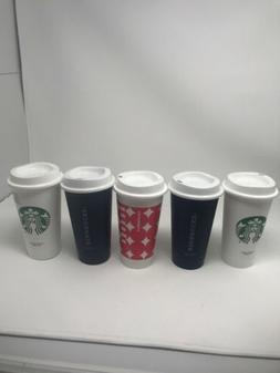 STARBUCKS REUSABLE TRAVEL TO GO CUP 16OZ-GRANDE COFFEE/TEA S