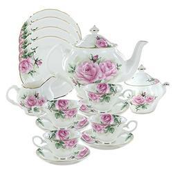 Rose Bouquet Bone China Tea Set