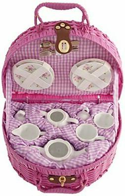 Delton Rose Pattern 1X Child Size Pretty Little Tea Set for