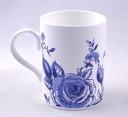Roy Kirkham Fine English Bone China Mug - Blue Lucy Spray -