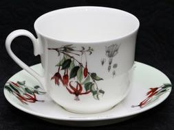 ROY KIRKHAM FUSCHIA Fine Bone China Small Cup & Saucer Set