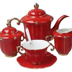 Royal England Bone China Ceramic 15-Piece Tea Set Coffee Set