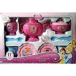 Disney Royal Princess 11 Piece Tea Set Play Set Tea Pot Cups