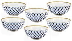 "Russian Uzbek Cobalt Blue Net Piala Tea Cup Set 5"", Premium"