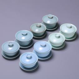 ruyao porcelain gaiwan tea bowl crackle glaze tureen China c