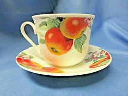 *SALE*FRUIT TREE BREAKFAST CUP SAUCER, MADE IN ENGLAND BY RO