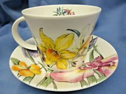 *SALE* SPRING  FLOWERS CUP SAUCER, MADE IN ENGLAND BY ROY KI